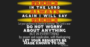 Philippians 4:4-6