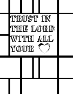 Trust in the Lord Coloring Page